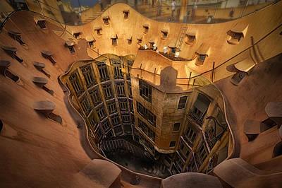 Curves Of Gaudi Poster by Kurt Hansen