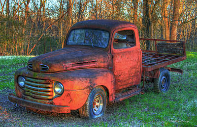 Customized Rust 1949 Ford Pickup Truck Poster by Reid Callaway