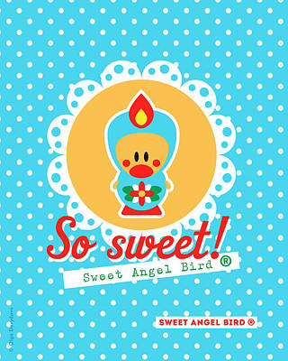 Cute Art - Sweet Angel Bird Lace Matryoshka Wall Art Print  Poster