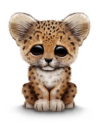 Cute Baby Leopard Cub Poster