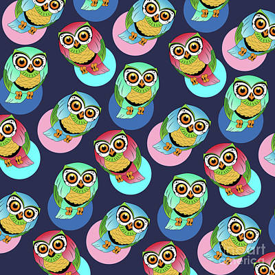 Cute Birds  Poster by Mark Ashkenazi