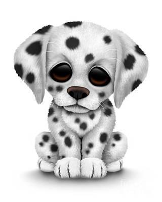 Cute Dalmatian Puppy Dog Poster