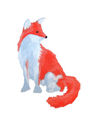 Cute Fox With Fluffy Tail Poster