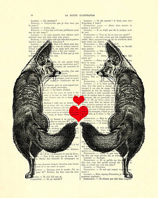 Cute Foxes Poster by Madame Memento