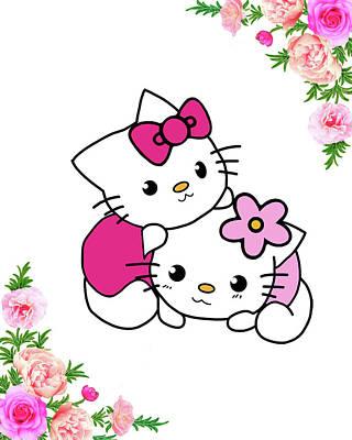 Cute Kitty Poster by Safran Fine Art