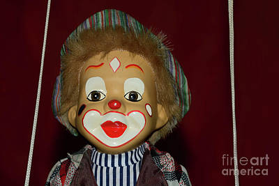 Poster featuring the photograph Cute Little Clown By Kaye Menner by Kaye Menner