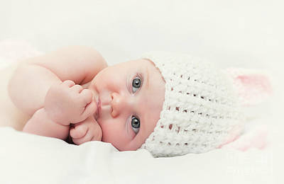 Poster featuring the photograph Cute Newborn Portrait by Gualtiero Boffi