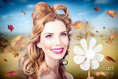 Cute Woman With Magnificent Hair. Beauty In Nature Poster by Jorgo Photography - Wall Art Gallery