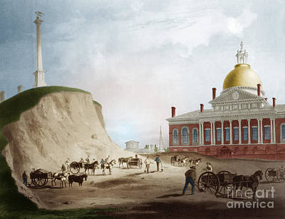Cutting Down Of Beacon Hill, 1811 Poster by Science Source