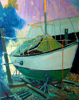 Cutts And Case Boat Yard Poster by Robert Lewis