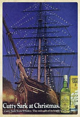 Cutty Sark Christmas Vintage Ad Poster