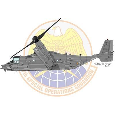 Cv-22b Osprey 7sos Poster