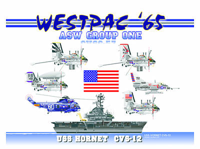 Cvsg-57 And Uss Hornet Poster