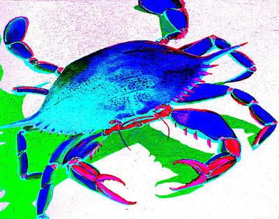 Cyan Crab Poster