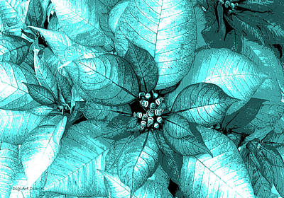 Cyan Shimmer Poster by DigiArt Diaries by Vicky B Fuller