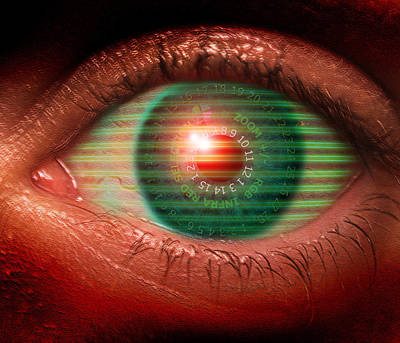 Cybernetic Eye Poster by Victor Habbick Visions