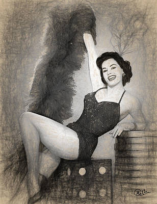 Cyd Charisse Draw Poster