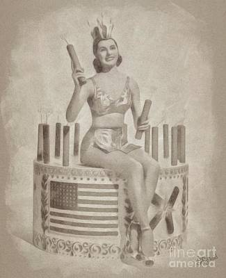 Cyd Charisse Hollywood Actress, Pinup And Dancer Poster