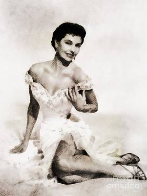 Cyd Charisse, Hollywood Legend By John Springfield Poster