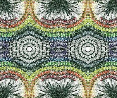 Cymatics Geometry #1547 Poster by Rainbow Artist Orlando L aka Kevin Orlando Lau