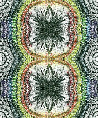 Cymatics Geometry #1549 Poster by Rainbow Artist Orlando L aka Kevin Orlando Lau