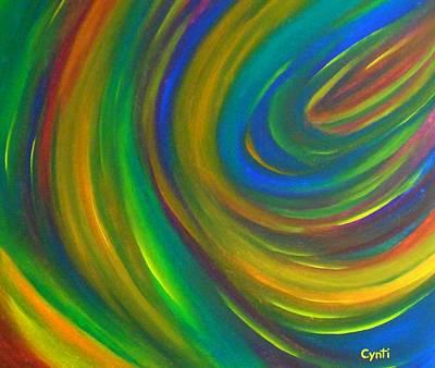 Poster featuring the painting Cynti by Cyryn Fyrcyd