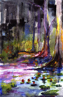 Cypress Gardens South Carolina Watercolor Poster