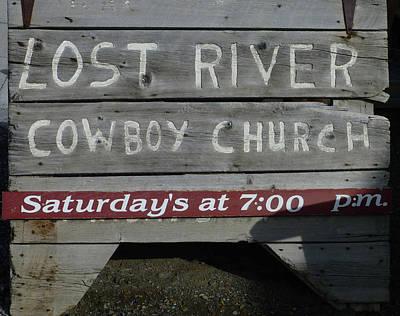 D07597-dc Cowboy Church Sign Poster
