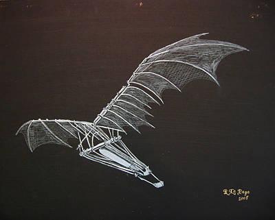 Da Vinci Flying Machine Poster