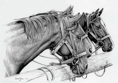 Da158 3 Horses Daniel Adams  Poster