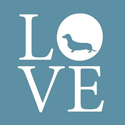 Dachshund Love Poster by Nancy Ingersoll