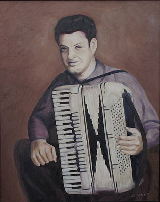Daddy And His Accordion Poster