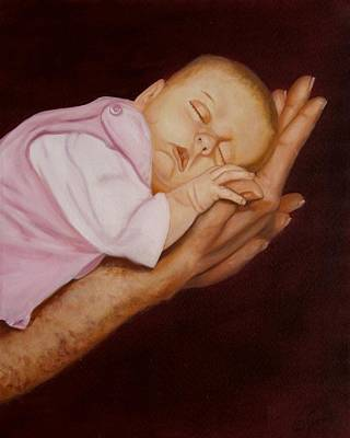 Poster featuring the painting Daddy's Little Girl by Joni McPherson