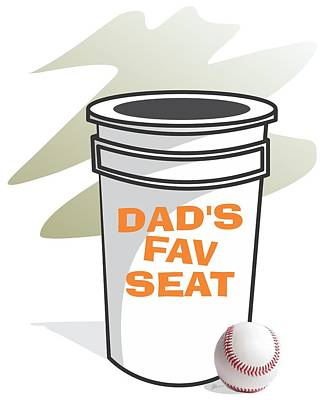 Dad's Favorite Seat Poster by Jerry Watkins