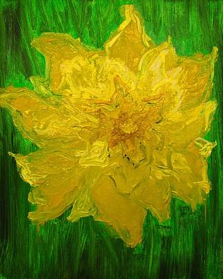 Poster featuring the painting Daffodil by Evelina Popilian