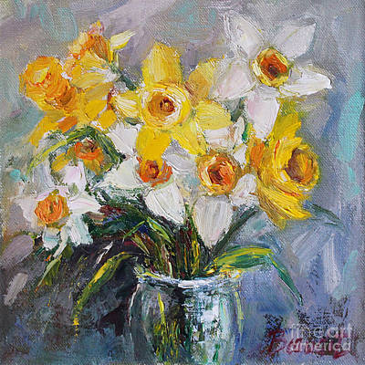 Poster featuring the painting Daffodil In Spring  by Jennifer Beaudet