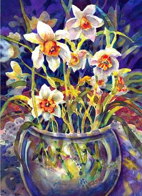 Daffodils And Lace Poster