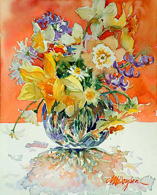 Daffs And Daisies Poster