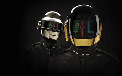 Daft Punk - 639 Poster by Jovemini ART