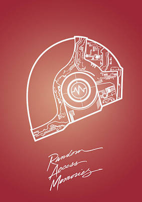 Daft Punk Guy Manuel Poster Random Access Memories Digital Illustration Print Poster