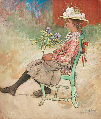 Dagmar Grill Poster by Carl Larsson