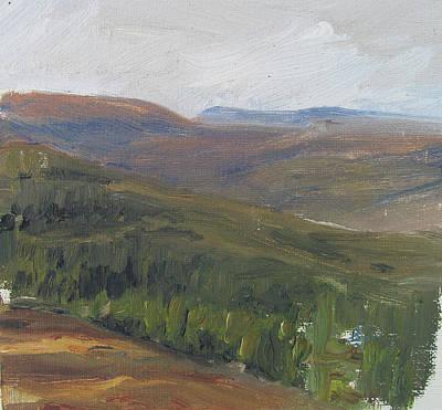Dagrar Over Salenfjallen - Shifting Daylight Over Distant Horizon 1 Of 10_0034 50x50 Cm Poster
