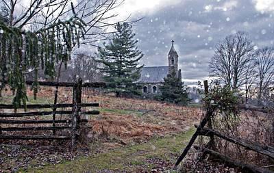 Dahlgren Chapel Winter Scene Poster