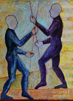 Poster featuring the painting Daily Balancing by Priti Lathia