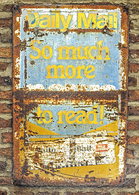 Daily Mail....vintage Sign Poster by Hal Halli