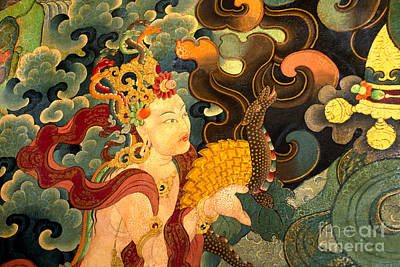 Dakini With Nagas - Sera Monastery Tibet Poster by Craig Lovell