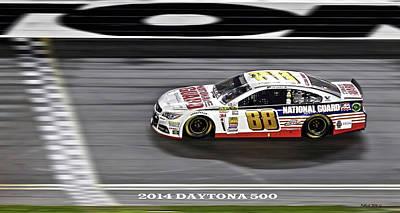Dale Earnhardt Jr. Wins The 2014 Daytona 500 Poster