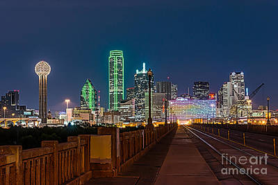 Dallas Cityscape Poster by Tod and Cynthia Grubbs