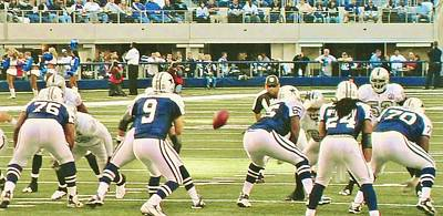 Dallas Cowboys And Quarterback #9 Tony Romo Poster by Donna Wilson
