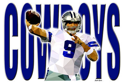 Poster featuring the digital art Dallas Cowboys by Stephen Younts